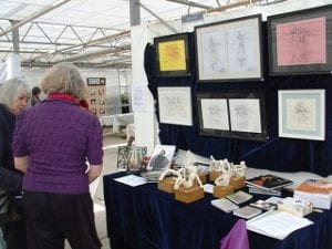 Jane Waller at Waddesdon Plant Centre artists and makers event May 2012
