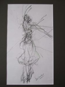 Ballerina dancing by Jane Waller