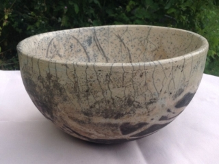 Close-up of Nude Inside a Bowl (Raku-fired)