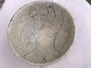 Nude inside a Bowl (Raku-fired)
