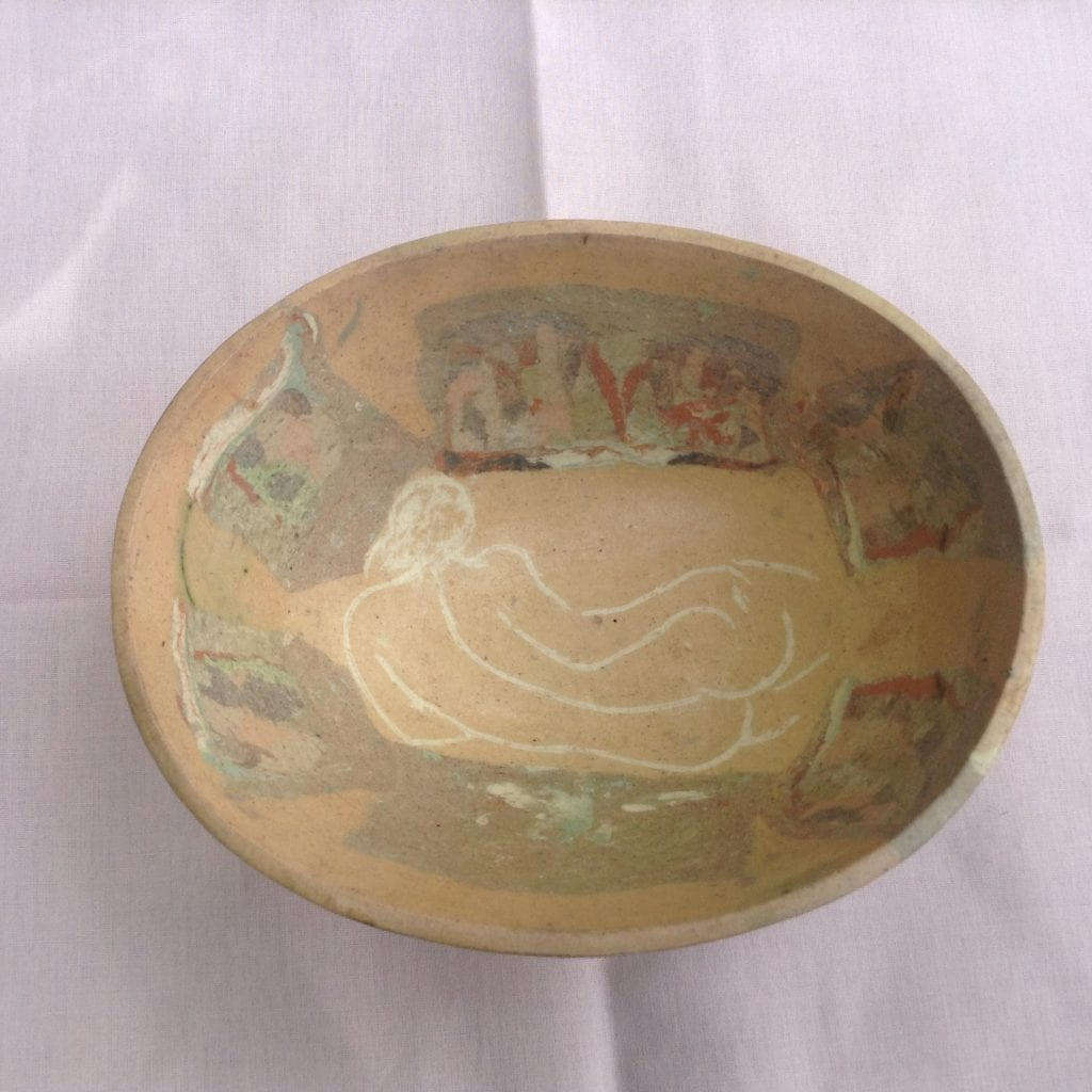 Reclining Figure inside a Millefiori Bowl