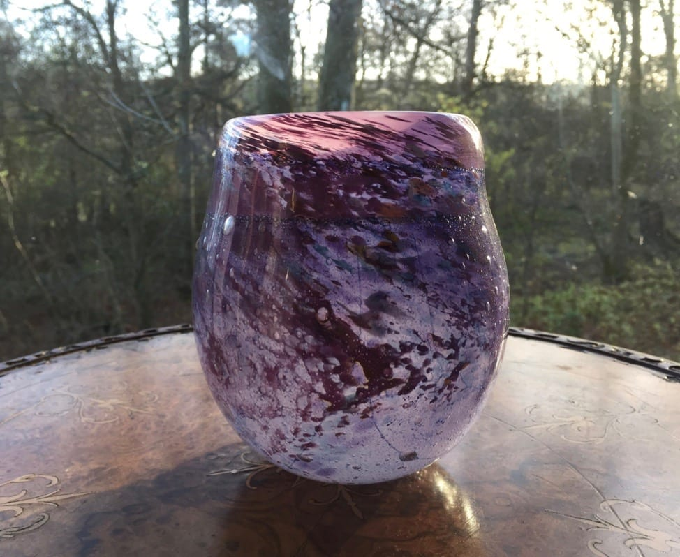 Bubbled Mauve Vase