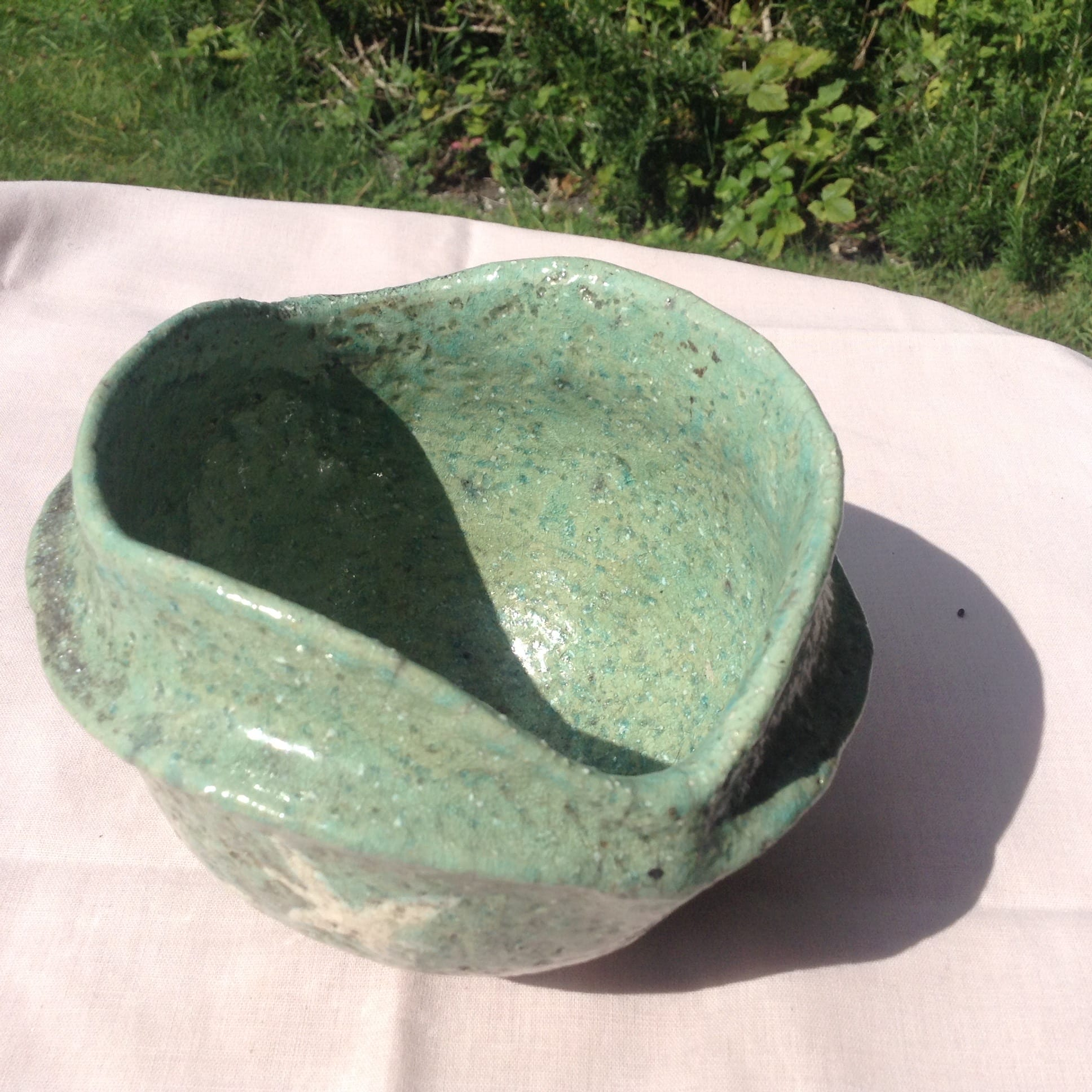 Green Carinated Star Bowl