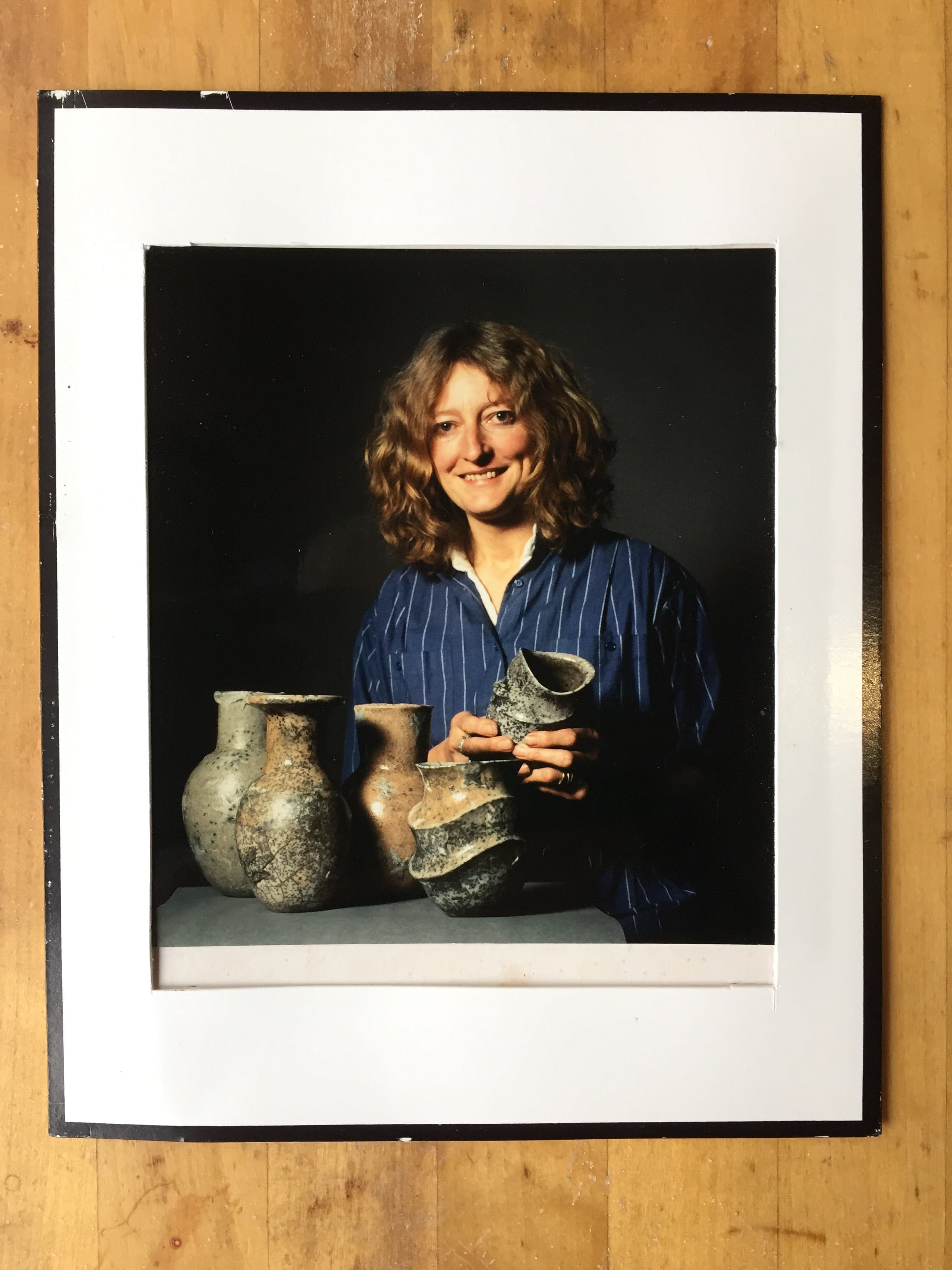 Jane with her Raku Pots