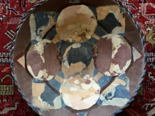 Large Plaited Mauve Bowl