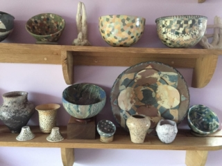 My Ceramics in my Long Gallery