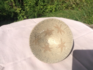 Sand-Coloured Raku Star Bowl