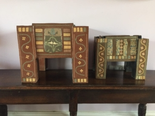 Large and Small Tudor Chests