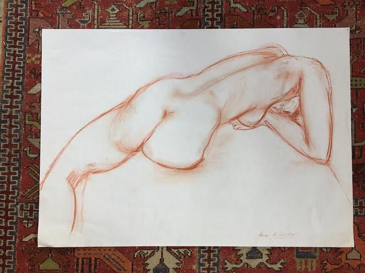 Life drawings with space around them